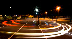 Yin - Yang (jonbradbury) Tags: park longexposure light red white black car night honda interestingness cool nice long exposure unitedkingdom trails crx tokina explore round streams lighttrails 1224mm nottinghamshire circular mansfield lightstreams expore canoneos400d jonbradbury jonbradburycom