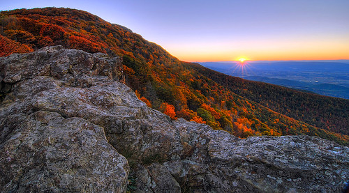Autumn Sunset - Little Stony Man Cliffs – Shenandoah National Park