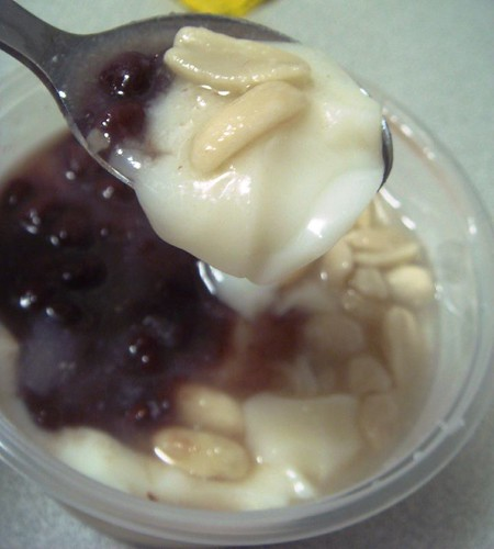 Red bean & peanut tofu fah