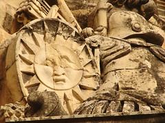 Trophy detail, Auberge de Castile (archidave) Tags: architecture malta sun stone valletta auberge castile aubergedecastile knights stjohn inn palace carved carving decoration armour helmet shield baroque trophy ornament door entrance architrave knightsofmalta