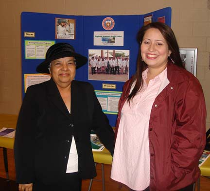 Greysi Reyna and Monica Tovar at WB Green Middle School in La Feria