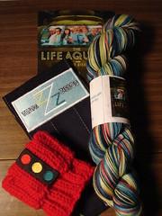 Wes Anderson Swap package (stupid clever) Tags: lifeaquatic bellefonte sockyarn valutree ravelry wesandersonswap