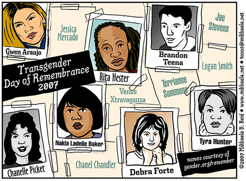 Transgender Day of Remembrance 2007 Cartoon