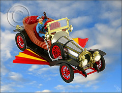 DAY 15: Chitty Chitty Bang Bang (F-2) Tags: light sky car canon studio flying wings flash dream tent 5d photoshopcs bang magical lighttent 580ex 2007 chitty chittychittybangbang 10faves fantasmagorical aplusphoto colourartaward caracticuspotts baronbomburst