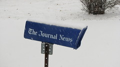 The Journal News (Petunia21) Tags: snow newyork sign newspaper pole rockland rocklandcounty nanuet december132007 southparkavenue thejournalnews lexowavenue