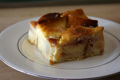 Pear Red Currant Bread Pudding