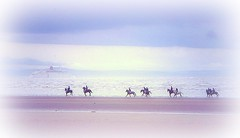 riders on the beach (~ paddypix ~) Tags: blue sea england colour nature shoreline picnik moodyblues ukandireland platinumphoto anawesomeshot superbmasterpiece scenicsnotjustlandscapes