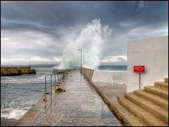 """Up, Up and Away"" (North Light) Tags: weather coast scotland highlands waves harbour breakers hdr caithness johnogroats flickrsbest weatherphotography"