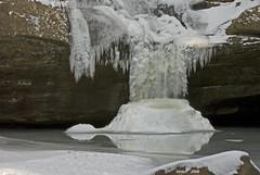 Ice at the bottom of Cedar falls (vmacs) Tags: morning winter snow ice nature waterfall nikon rocks hockinghills nikkor70200vr reflextion cedarfalls oldmanscave d80 70200vr