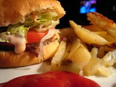 Turkey Burgers & Oven Fries