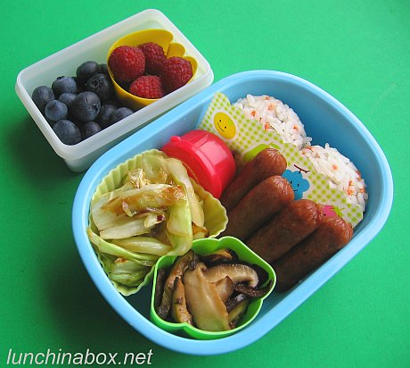 Multi-sauteed bento lunch for preschooler