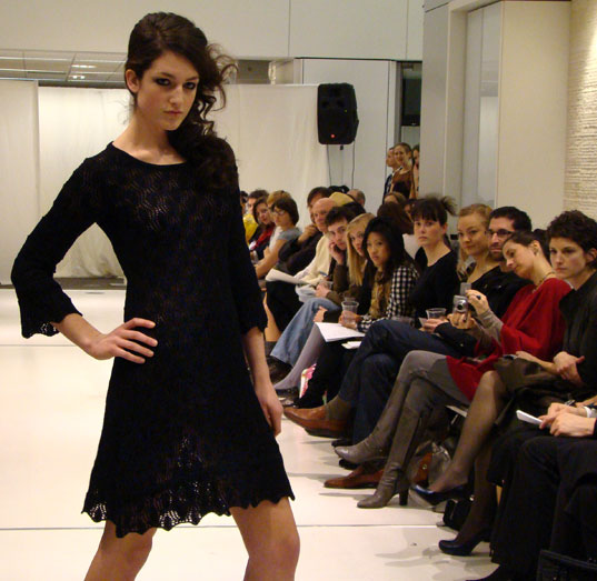 FIN Black Knit Dress