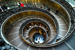 Italy / Rome - Vatican museum stairs (Manu Foissotte) Tags: voyage people italy favorite vatican rome roma art history topf25 beautiful museum architecture stairs spiral star nikon ramp europe interiors italia catholic christ artistic god geometry religion jesus best vaticano museo fav michelangelo miguelangel downstairs escalier italie vaticanmuseum bestpicture escaleras intrieur bestofflickr vaticancity opusdei michelange 25fav beautifulpicture vaticanstairs bellephoto beautifulshot 5photosaday flickrsbest eliteimages platinumheartaward exitstairs museduvatican foissotte 100commentgroup nikonbest intriors jesusvatican