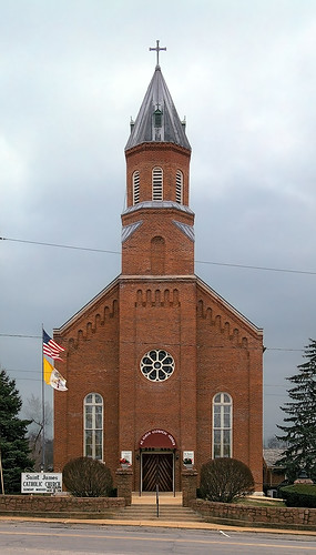 Saint James Roman Catholic Church, in Potosi, Missouri, USA - exterior