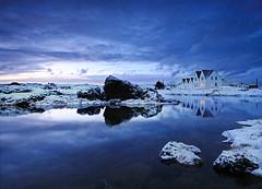 Stillness (orvaratli) Tags: ocean travel sea reflection canon landscape iceland bravo stillness 1022mm sland icelandic onblue straumur coolshot thegardenofzen arcticphoto rvaratli orvaratli