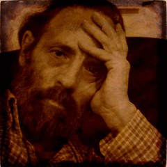 Vintage Self Portrait (Osvaldo_Zoom) Tags: portrait italy selfportrait man sepia vintage thinker textured 2b bcommeberenice thatsclassy