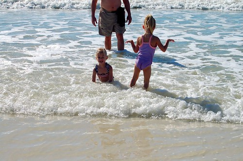 Having fun in the waves!