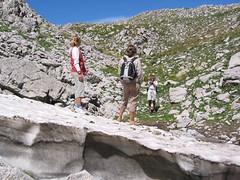 Nevaio nella Dolina del Monte Pollino
