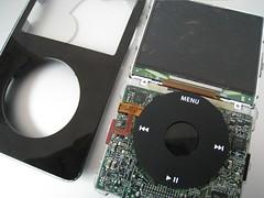 IMG_0284 (Yi Shiang) Tags: apple indonesia ipod crack made harddrive toshiba lcd gen bla 5th rusak retak batere