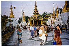 People praying, Shwe Dagon, Rangoon, Burma / Myanmar (Boonlong1) Tags: travel people architecture asian gold golden worship asia yangon burma prayer religion buddhism holy exotic sacred myanmar burmese goldentemple rangoon worshipers 5photosaday goldenpagoda shweedagon