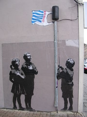 Banksy's statement. (davidezartz) Tags: street greatbritain blue light red england urban brown white black art english sunshine wall writing work children grey graffiti stencil nikon artist shadows sold famous politics culture banksy tesco ethics plastic pharmacy identity thewritingonthewall hollywood statement works celebrities latest graffitiartist technique uncertain n1 artworks stencilling topics shoppingbag pounds pledge allegiance essexroad streerart thousands appeared northlondon distinctive hundreds encompass lastweek wellknown e3100 sidewall blueribbonwinner attracted supershot nikone3100 nikonstunninggallery platinumphoto excellentphotographerawards goldstaraward iamflickr awardflickrbest banksysstatement pseudoanonymous pledgeyourallegiance