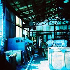 005 (La Practica Photography) Tags: film crossprocessed junk kodakektachromee200 hoga120n urbanoresalvage
