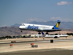 Allegiant Air McDonnell Douglas MD-83 N877GA (BOSOX Photographix) Tags: las vegas air douglas mcdonnell md83 allegiant n877ga