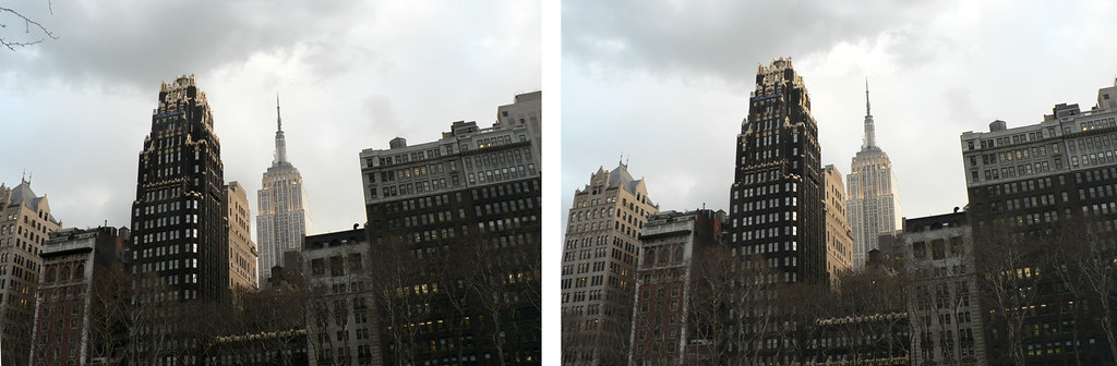 3-D Empire State from Bryant Park