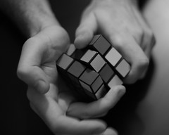 Intelligent struggle (Diana Popan) Tags: bw game hands cube rubiks letsplay bestofbw intelligentstruggle