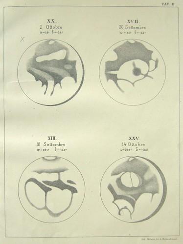 Particolari della superficie di Marte dalla prima Memoria, 1878 Giovanni Schiaparelli