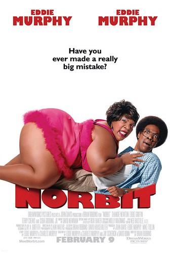Norbit, poster showing Eddie Murphy and Thandie Newton