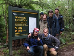 At the start of the Whirinaki Track Photo