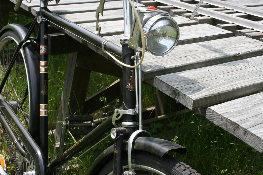vintage raleigh bicycle light