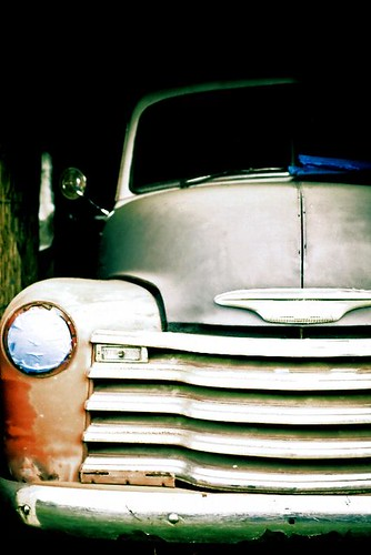 Under Construction - an old Chevrolet truck in Stayton Oregon