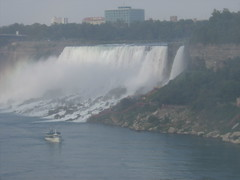 American and Bridal Veil Falls from Canada (MaryAnnC66) Tags: niagarafalls waterfall bridalveilfalls americanfalls