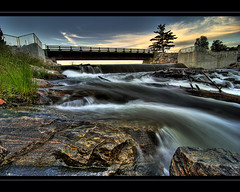 Tee Lake Bridge - Tokina 11-16 (Pierre Contant) Tags: wood canada tourism night creek forest photoshop river nikon rocks stream exposure time quebec pierre dam tripod wideangle rivire falls timeexposure tokina explore barrage hdr superwideangle abitibi cs3 ruisseau temiscaming teelake 1116 contant d80 diamondclassphotographer flickrdiamond forestery abitibitmistamingue tmistamingue tokinaatx116prodx lactee nikonflickraward pierrecontant