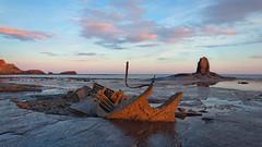 Saltwick Bay Sunrise (David Jones 2) Tags: saltwick bay sunrise dawn black nab admiral von tromp trawler shipwreck sea whitby yorkshire england davejoneswollatonntlworldcom