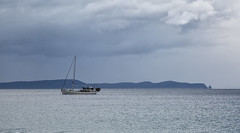 where there's no sense at all (Keith Midson) Tags: brunyisland tasmania yacht adventurebay caperaoul coast sky storm skies sea seascape australia