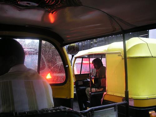 Inside an Auto-Rickshaw