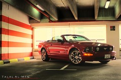 Mustang GT (Talal Al-Mtn) Tags: red ford car canon photo flickr shot kuwait mustang gt mustanggt q8 kwt fordmustanggt amreican 450d canon450d kwtmotor talalalmtn