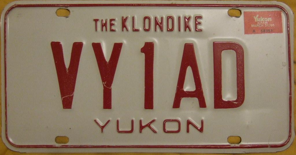 YUKON 1984 Amatuer radio plate