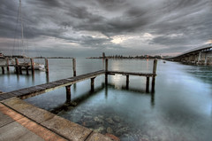 Foster Dreaming (OzBandit) Tags: ocean bridge sea seascape beach water clouds bravo jetty australia forster magicdonkey diamondclassphotographer seascapeexpo seascapeexpov1 folioselect wallislakebridge