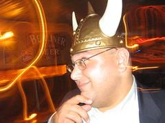 This guy loves Vikings (Seeking Irony) Tags: viking hejhej