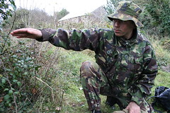 Enemy Contacts, 12 O'Clock (Hughes_Matt) Tags: camp training sunrise army 22 uniform exercise military air working royal blues newquay skills rifles corps greens shooting rank griffin presentations patrol drill cadets dpm l98 penhale dpms