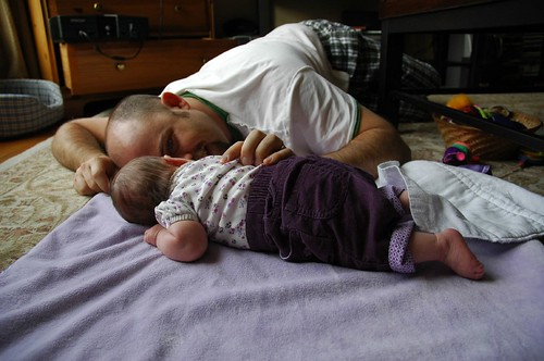 Tummy Time With Daddy