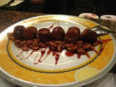 Sausage and beans at Cal Pep