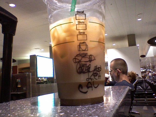 Starbucks scribble