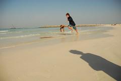 skimboarding (winkle.) Tags: beach dubai skimboarding