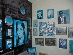 C215 - MONOKROMIK Group show at the Art Partner gallery - Paris - Dec 07 (C215) Tags: c215 monokromik artpartner galerie exhibition show collective custom toyz qee stencil pochoir canvas painting streetart paris france tchikioto dan23 htkc mokoso esper sadhu spadge labostereo miette seize stew flyingfortress ananda nahu blue christian guemy art graffiti gumy french schablon szablon masacara piantillas