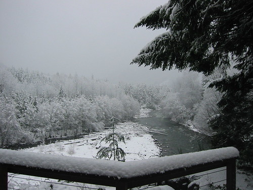 Winter wonderland river view
